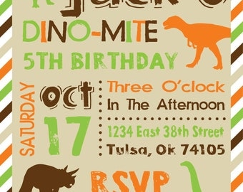 Dinosaur Party Downloadable Invitation