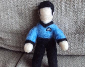 Star trek Spock needle felted figure