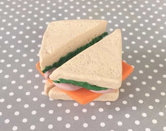 Ham and Cheese Sandwich - Polymer Clay