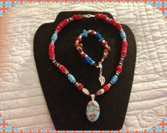 Red Is Perfect Necklace set