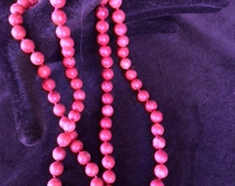 Orange Coral Bead Necklace