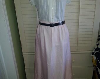 Vintage Pink skirt, vintage skirt, vintage flirty pink skirt. 1970's skirt. A10