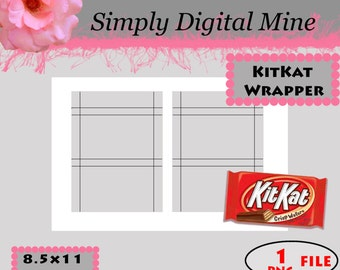 YOU Design!!! Kit-Kat Wrapper Templates!!