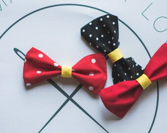 Mickey Mouse Inspired Hair Bows - Set of Three