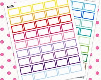 Framed Thick Border Half Boxes || Printable Planner Stickers || Instant Digital Download
