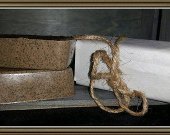 Exfoliating Vanilla Coffee soap with shea butter