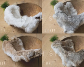 Genuine Rabbit Fur Prop, Newborn Prop, Posing Prop, Genuine Fur