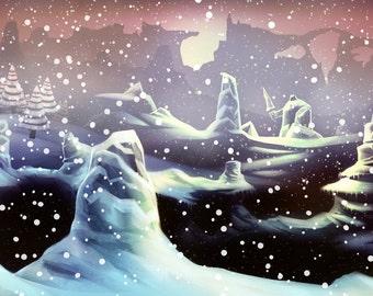 The Ice Guardian Digital Painting Print