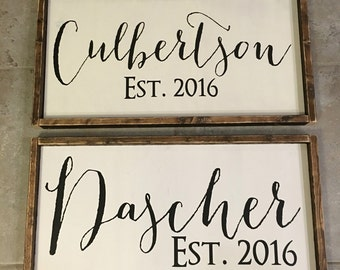 Name & Date Wood Sign