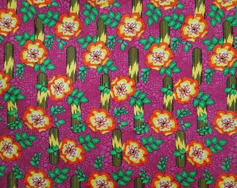 "Floral Printed Pattern Purple Color Pure Cotton Indian Fabric 41"" Wide Sewing Crafting Apparel Dress Making Fabric Material By 1 Yd ZBC5581"