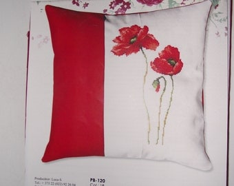ON SALE - 50% New Cross Stitch Kіt PB -120 Decorative Pillow,  Col : 18, Size 40x40 cm  Embrodery Size - 17 x 28 cm Gift