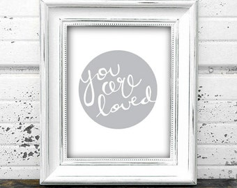 Nursery Wall Art | Baby nursery art, nursery art, you are loved art, baby wall art, nursery wall decor