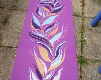OOAK hand painted yoga mat