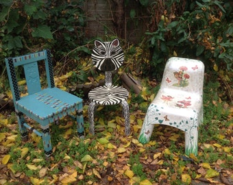 OOAK fairy chair up-cycled plastic