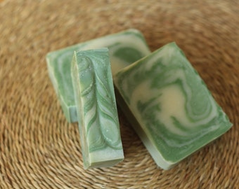 Lime Swirl- Plain or Felted Soap