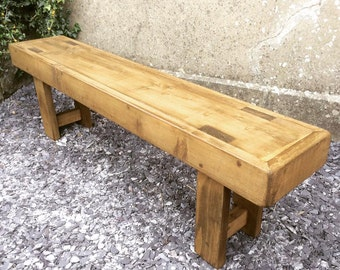 Rustic Wooden 'Amsterdam' Bench