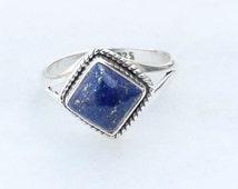 Lapis Ring, Lapis Lazuli Ring 925 Solid Sterling Silver Lapis Lazuli Ring, Gemstone Ring Size  5 6 7 8 9 10 11 12