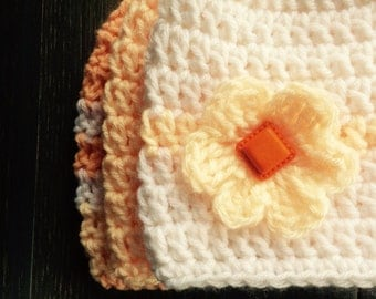 Apricot Baby Hats: Set of 3