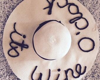 Its Wine O'Clock customizable hat