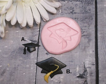 Graduation Mold - Graduation Cap Mold - Silicone Mold - Food Safe Mold - Fondant Mold - Flexible  Mold - Resin Mold - Molds - Moulds