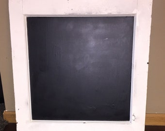 Upcycled window chalkboard