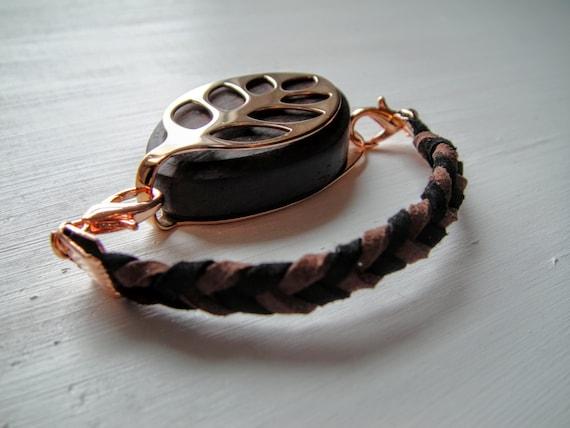 ROSE GOLD Suede Bracelet for the Bellabeat Leaf