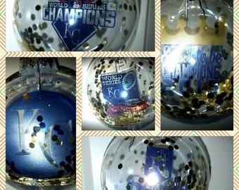Kc royals christmas ornaments-kansas city world series champ 2015