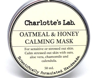 Oatmeal & Honey Calming Mask Hydrating Facial mask for dry skin sensitive skin face mask clay mask dry skin facial mask clay mask