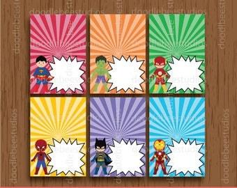 Superhero Food Tents, Superhero Food Cards, Printable Food Cards, Superhero Food Labels, Super Hero Party, Superhero Printables