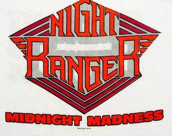 1983 NIGHT RANGER Midnight Madness WORLDTOUR Vintage Raglan Shirt
