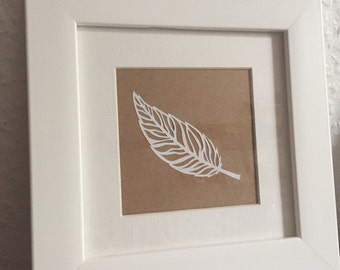 White feather papercut