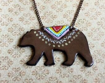 Spirit Animal Bear Necklace
