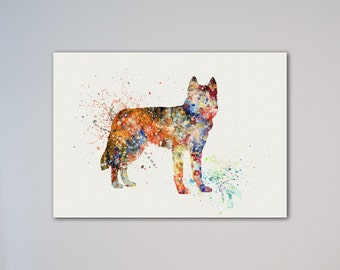 Siberian Husky Dog Poster Animal Art Print Pet Portrait Illustration