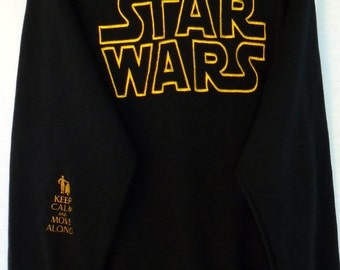 Crew Neck Sweatshirt Star Wars Embroidered