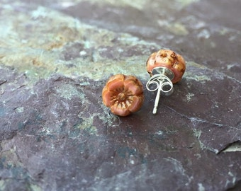 Blossom Sterling Silver Stud Earrings in Rose Pink