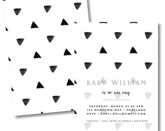 geometric // triangle invitation // birthday invitation // shower invitation or baby shower invitation