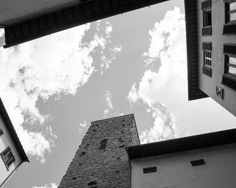 Sienna Architecture poster black and white  Architecture sketch Architecture  Sienna  photo sky roof Instant Download