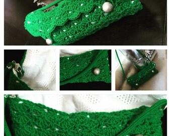 Emerald green clutch