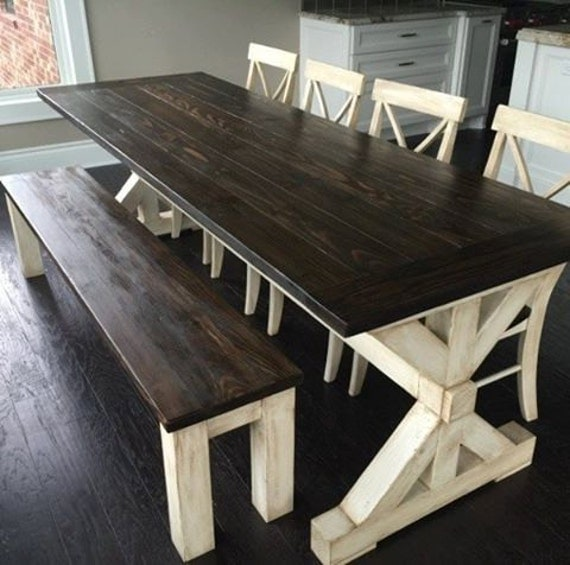 Items Similar To Post Trestle Farm Table The Liberty On Etsy