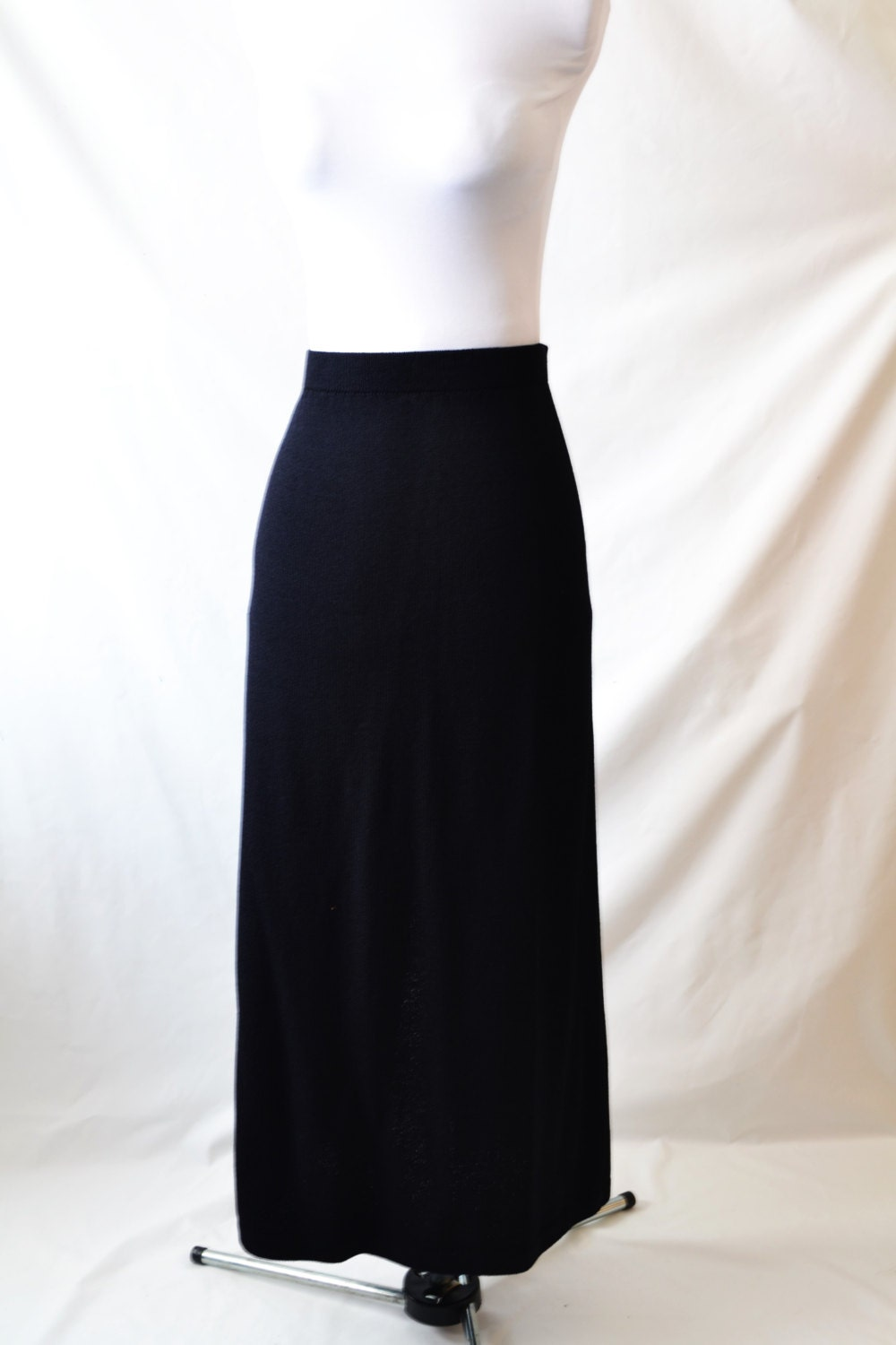 vintage black maxi skirt stretch knit maxi dress by st