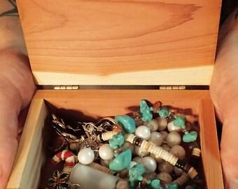 Cedar jewelry box, champlain steam boat