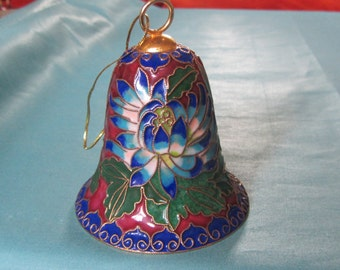 Cloissone Bell Ornament With Clapper