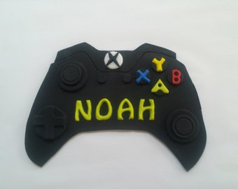 X BOX XBOX video game controller fondant cake topper decoration name plaque