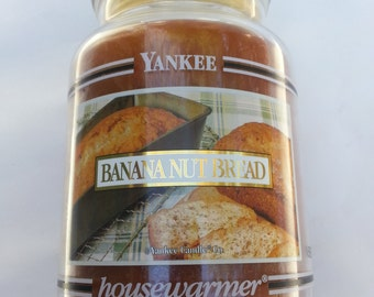 Yankee Candle , Black Band ,Banana Nut Bread, rare black band