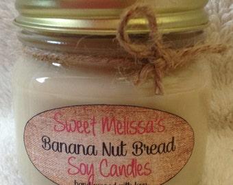 Banana Nut Bread Soy Candle