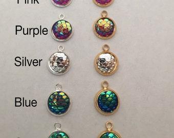 Sale*** 1 mermaid cabochon charm pendant for bracelets necklaces jewelry Size:10mm A11FD-LB1