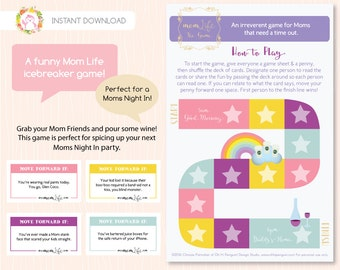 Mom Party Printable, Funny Mom Life Moms Night In & Ice Breaker Printable, MomLife Game by OHP Design Boutique