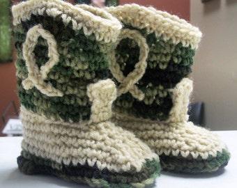 Baby Crochet Cowboy Booties