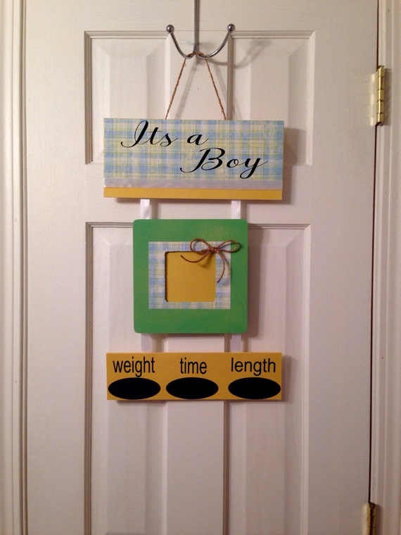 It 39 s a boy baby hospital door hanger by everythingpersonaliz for Baby boy hospital door decoration