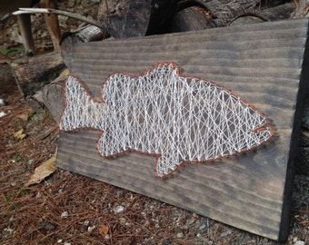 Wedding date string art anniversary date date of birth for Fish string art